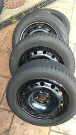 Genuine Fabia, polo, leon, Winter Tyres and Wheel Sets Bridgestone 195/55 R15 good cond