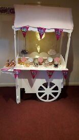 Candy cart for hire £50 great bargain and outside catering