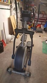 NordicTrack E7.2 Incline Elliptical Cross Trainer & Life Fitness Lifecycle 9500HR Recumbent Bike
