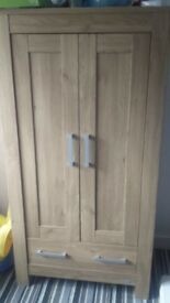 solid wood wardrobe and chest of draws ideal for nursery perfect condition