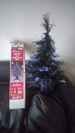 "24"" Black LED Christmas Tree"