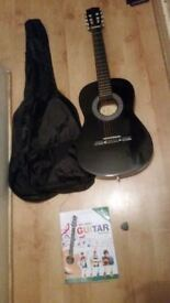 ts Music Fidelity classic guitar 3/4 excellent condition for about 8-12 years plus book and case