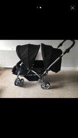 Baby start double pushchair