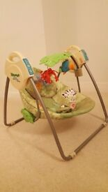 Fisher Price Rainforest Friends Takealong Swing with music and toys