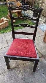 Padded seat wooden chair