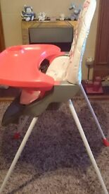 Babylo Pasta Plus Baby Highchair/Lowchair, Great Condition