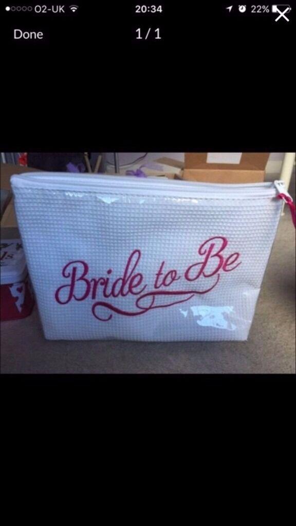 bride to be zip storage bag