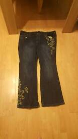 Size 22 Evans embroidered jeans