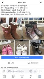 Bundle of size 8 and 9 toddler girls shoes