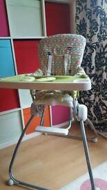 Highchair folding with detatchable tray high chair