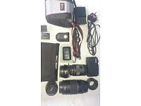 Canon EOS M + 3 Lenses + EF converter + accessories
