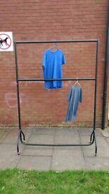 Double clothes rail. 5ft x 7ft. Heavy duty. £25