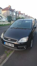Ford C-Max TDCi Ghia Top Spec 5dr in black. Cruise, 6 speed, electric driver seat, A/C, new MOT