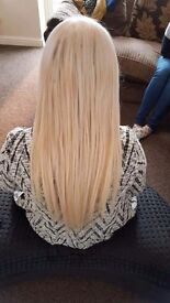 Hair extensions fitting