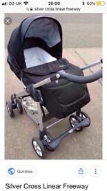 Silver Cross Freeway Linear excellent condition with Ventura isofix base and car seat.
