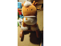 Plush rocking horse toy