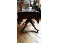 Victorian antique drop leaf table