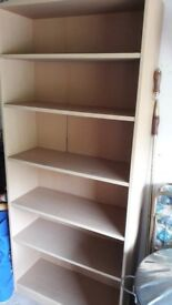 Self-assembled shelving unit for free