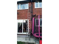 Double aluminium ladders