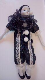 2 X Collectible Porcelain Pierrot Dolls
