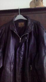 Leather Jacket 2XL, Bomer jacket, good condition hardly worn