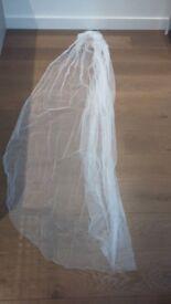 Floor length veil - never worn - original price £55