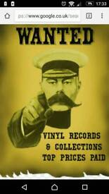 RECORDS VINYL WANTED