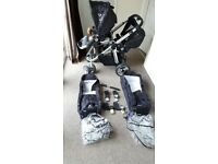 Icandy pear twin pram with accessories, excellent condition