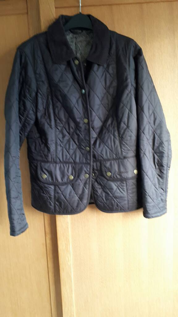 Ladies size 10 brown quilted harbour jacket