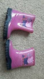 Peppa Pig wellies infant size 4