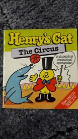 Vintage 1980's Henry's Cat The Circus Books/book – post or collect