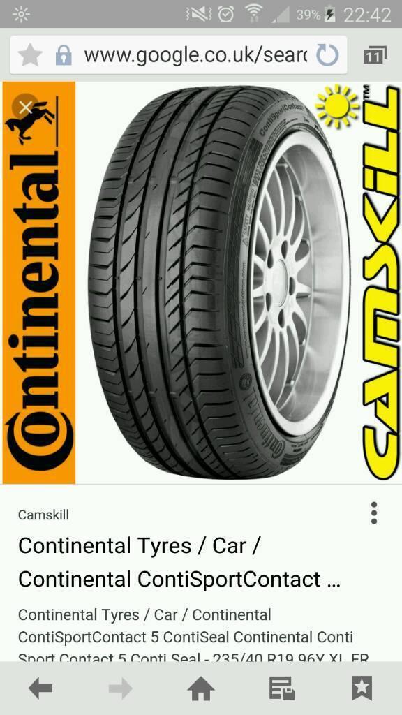 Continental Conti Sport 5 235 40 R19 XL (4 Tyres)