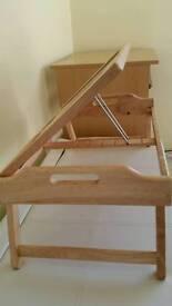 Large wooden folding tray/ laptop holder/lap tray for food etc