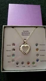 Brand new Family birthstone pendant
