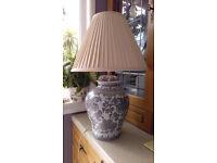 Large Chinese Ginger Jar Table Lamp & Shade