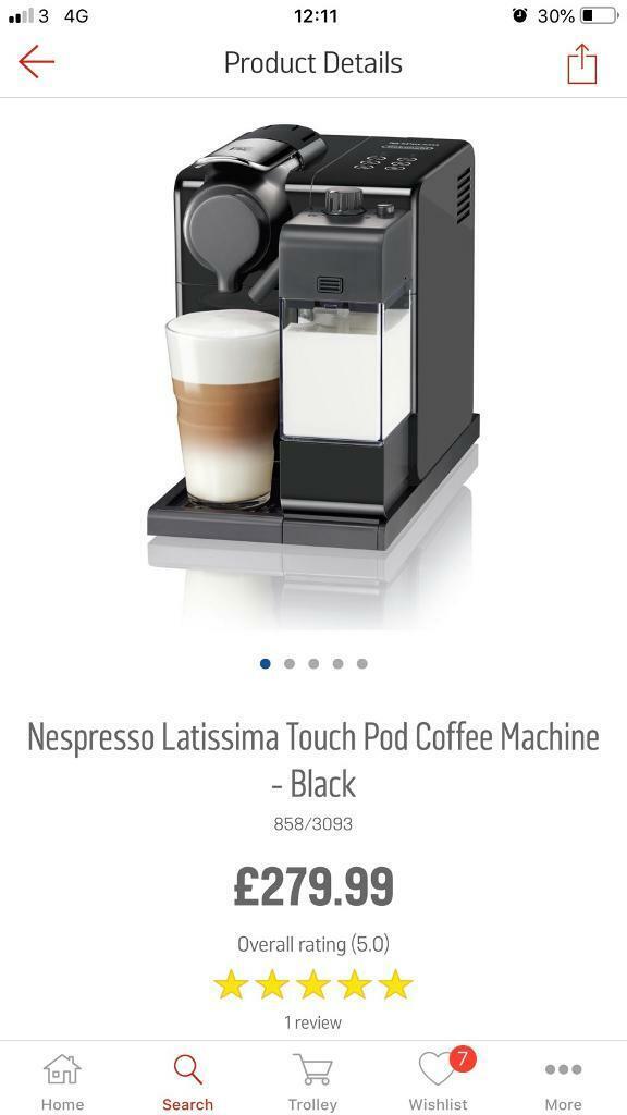 Nespresso En550b Lattissima Coffee Machine Still 27999 From Argos In Sandwell West Midlands Gumtree