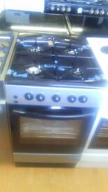 Black/grey gas COOKER 50cm graded