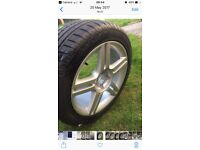 Genuine Audi A4 S Line alloy with brand new tyre