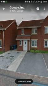 To let 3bed Cul de sac location 2 parking spaces. Availble Jan/Feb no DSS. 1Month rent + 550 bond.