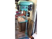 Pillar Drill, Elliot, 1/2 inch chuck, 240V, industrial quality machine.