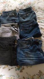 6 pairs ladies jeans size 12
