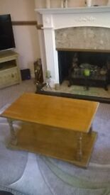 coffee table.40yrs approx.h 40cm x l 80cm x w50cm.well cared for.solid wood.absolute bargain.