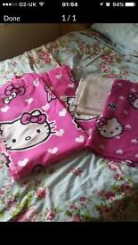 Hello kitty matching curtains and blanket