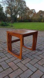 G Plan, Nest of tables, Retro, Mid Century, Solid Teak, Quadrille, 3 tables, coffee, etc.