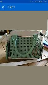 Mint Green and White Handbag Limited Edition