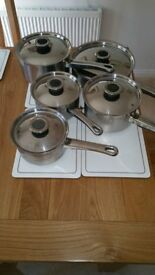 A set of Induction Pots and Pans