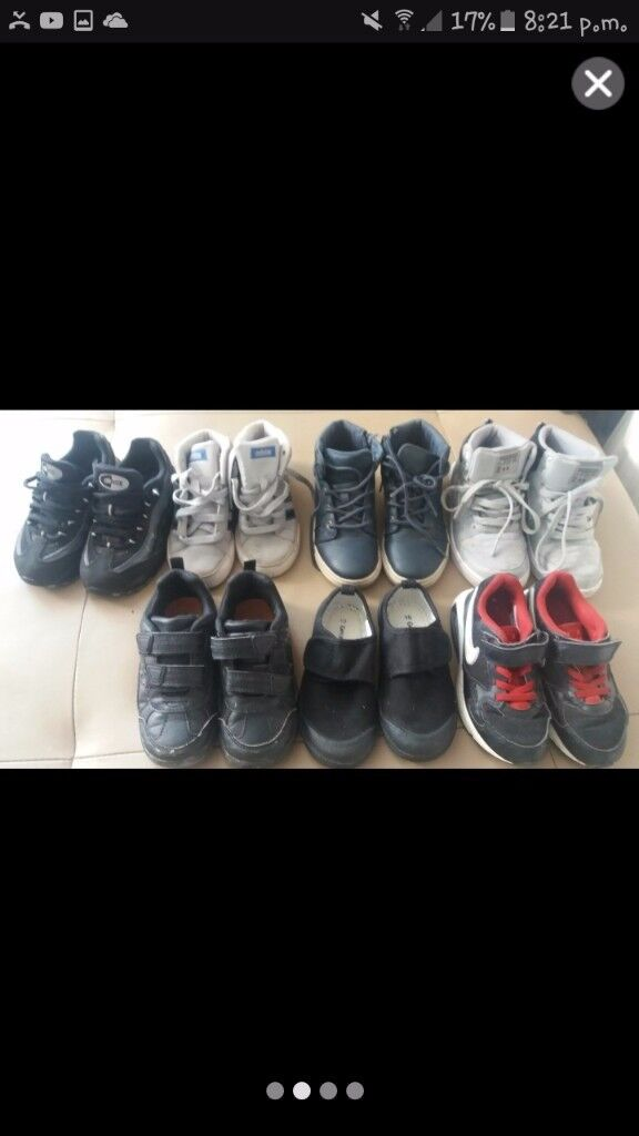 6 pairs of trainers,high tops and shoes