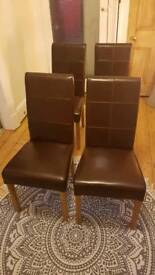 Leather Dining room Chairs 4