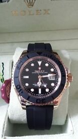rolex yacht master ii rose gold . (eta2836) full rolex wave box set sapphire glass
