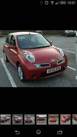 Nissan micra acenta 2009 red 5 door